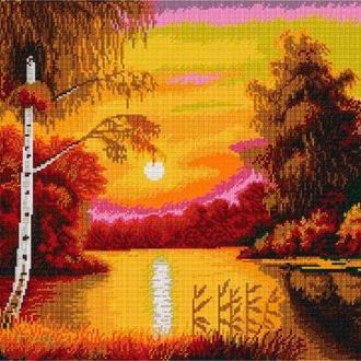 Набор для вышивания бисером Nova Sloboda 57*39 см БИС0290 Алый закат