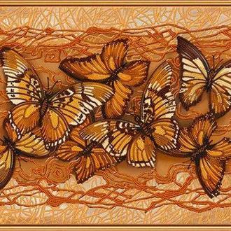 Набор для вышивания бисером Nova Sloboda 40*30 см БИС1272 Полет бабочек
