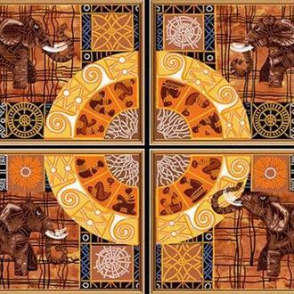 Набор для вышивания бисером Nova Sloboda полиптих 4шт 25*18 см В40007 Колесо фортуны
