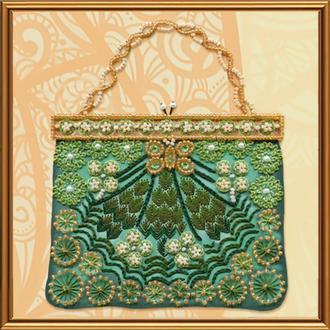 Набор для вышивания бисером и нитками Nova Sloboda 16*16 см ОР5531 Изумрудная коллекция, Женские секреты