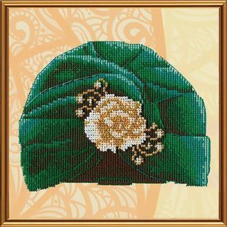 Набор для вышивания бисером и нитками Nova Sloboda 16*16 см ОР5532 Изумрудная коллекция, Театральная премьера
