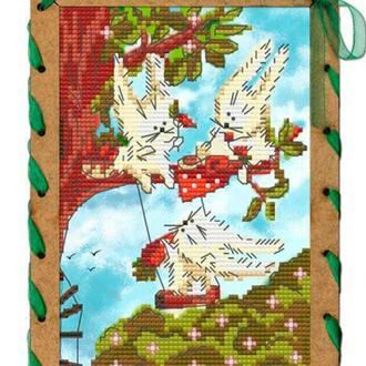 Набор для вышивания бисером и нитками Nova Sloboda 15*10 см ОР7556 Морковный обед