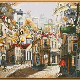 Набор для вышивания Nova Sloboda 38*26 см РЕ2337 Легенды старых улиц