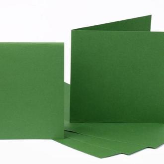 Набор заготовок для открыток 5шт 16,8*12см №11 темно-зеленый 220г/м Margo 94099058