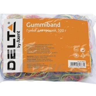 Резинки для денег 500гр разноцветные Delta D4622