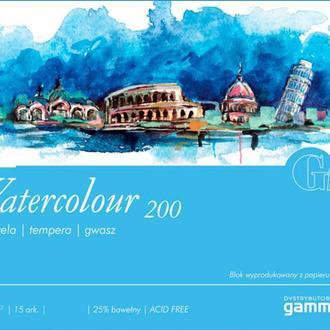 Бумага-склейка для акварели Fabriano (Gamma) 24*32 см 15л. 200г/м2 Watercolour W2002432K15