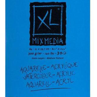 Альбом для акварели Canson А4 Mix Media Fin 30л. 300г/м спираль CON-200807215R
