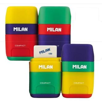 Ластик-резинка с точилкой Milan Compact mix 4710236