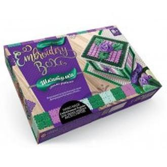 Набор для творчества DankoToys DT EMB-01-05 Шкатулка-вышивка гладью Embroidery Box