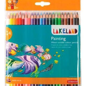 Карандаши акварельные набор 24цв. Derwent Lakeland Painting в блистере D-33255