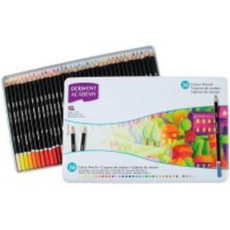 Карандаши цветные 36цв. Derwent Academy в металлической коробке D-2300225