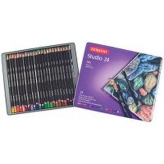Карандаши цветные 24цв. Derwent Studio в метал коробке 32197