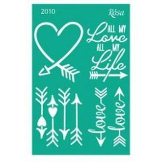 Трафарет самоклейка многоразовый 13*20см Rosa Talent №2010 серия Love GPТ50046001