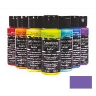 Краска акриловая DecoArt Multi-Surface Americana 59мл сатиновая Фиолетовая DA531-30