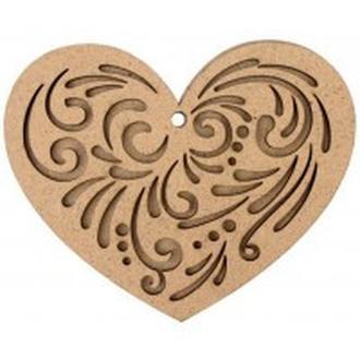 Заготовка для декорирования Rosa Talent (ДВП) Сердца 2 10*8см 4801177