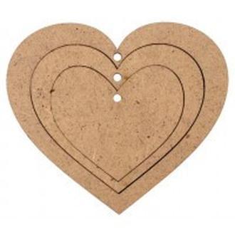 Заготовка для декорирования Rosa Talent (ДВП) Три сердца 10*11,6см 4801175