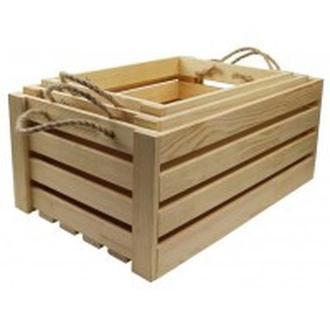 Заготовка для декорирования Rosa Talent (Сосна) Ящик прямоугольный 45х30х21см 2863002