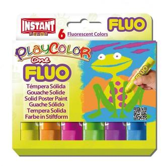 Краска выдвижная в виде мелка INSTANT Playcolor One fluo набор 6цв. 10431