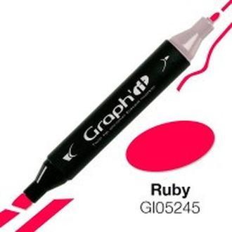 Маркер перманентный Graphit двусторонний GI05245 Рубиновый