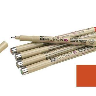 Ручка капиллярная PIGMA Micron линер Sakura Коричневый 0,1мм  XSDK01-12
