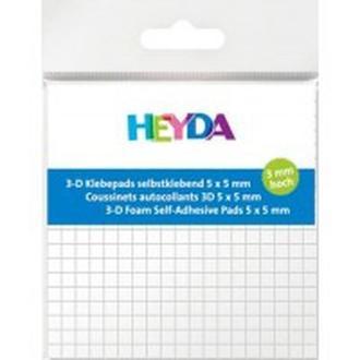 Клеющиеся квадратики 3D двухсторонние Heyda 5*5*3 мм 361шт 204889003