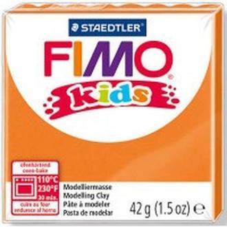 Глина полимерная FIMO kids 42г оранжевая 8030-4