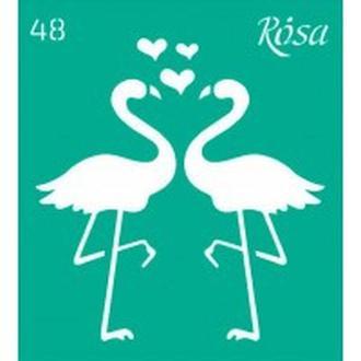 Трафарет самоклейка многоразовый 9*10см Rosa Talent №48 3625148