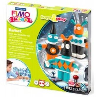 Глина полимерная FIMO kids набор 4шт. Робот 8034 03 LZ
