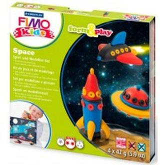 Глина полимерная FIMO kids набор 4шт. Космос 8034 09 LZ