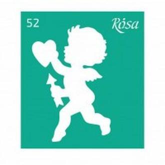 Трафарет самоклейка многоразовый 9*10см Rosa Talent №52 3625152