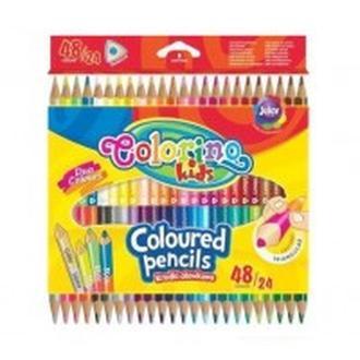 Карандаши цветные 24шт/48цв. Colorino двухсторонние треугольные 51705