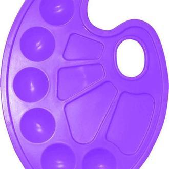 Палитра ZiBi овальная пластиковая 6920_Фиолетовый