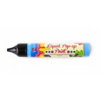 Контурная краска с глитером ЗD-гель 25мл Santi Liquid pop-up gel Голубой 741250