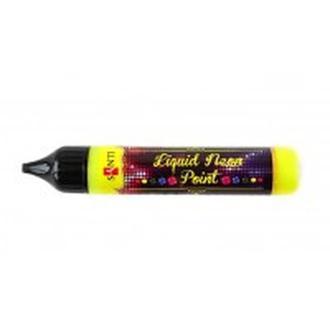 Контурная краска с глитером ЗD-гель 25мл Santi Liquid neon gel Желтый 741236