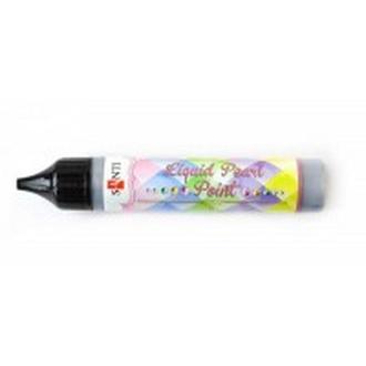 Контурная краска с глитером ЗD-гель 25мл Santi Liquid pearl gel Серебрянный 741201