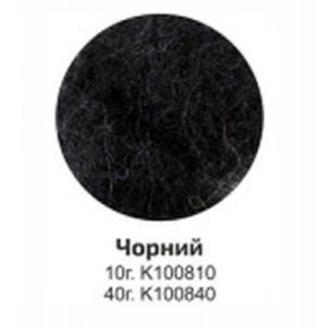 Шерсть для валяния кардочес Rosa Talent 40гр Черная К100840