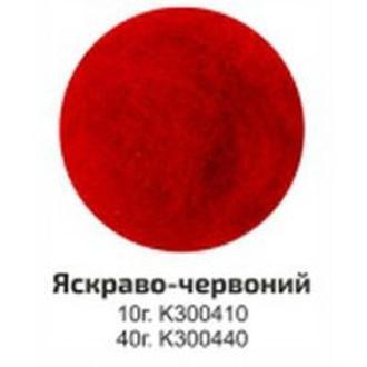 Шерсть для валяния кардочес Rosa Talent 40гр Ярко-красная К300440
