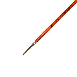 Кисть Черная Речка, Колонок, круглая №2 удлиненная лаковая ручка ХУМ-1105102