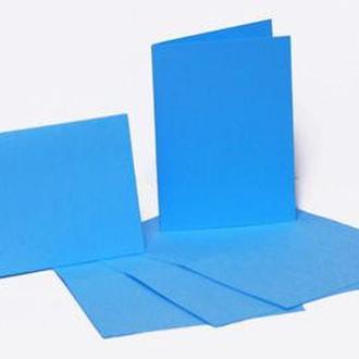 Набор заготовок для открыток 5шт 10,3*7см №5 Голубой 220г/м Margo 94099004