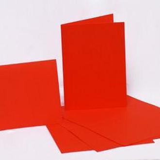 Набор заготовок для открыток 5шт 10,3*7см №9 Красный 220г/м Margo 94099008