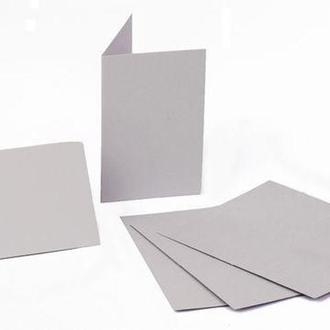 Набор заготовок для открыток 5шт 10,3*7см №12 светло-серый 220г/м Margo 94099052
