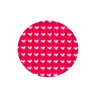 Фетр поделочный (полиэстер) 180г/м2 21,5*28см Rosa Talent PF013 принт, Сердца на розовом