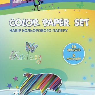 Бумага цветная детская А4 16л. Cool For School Набор 8цвет. CF05280
