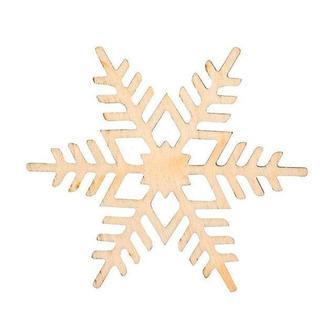 Заготовка для декорирования Rosa Talent (фанера) Снежинка 10 Д8см 4801520