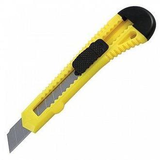 Нож канцелярский лезвие 18мм Delta D6522-**_Красный