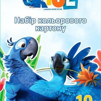 Картон цветной детский А4 10л. Cool For School Набор Rio RI00200