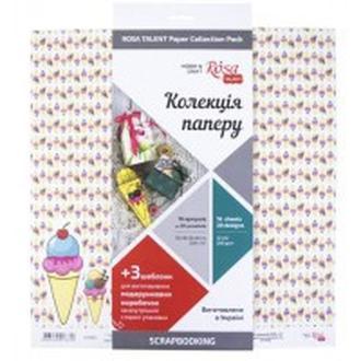 Бумага для скрапбукинга Rosa Talent набор 16л 30,5*30,5см Cake delicious двусторонняя 200 г/м 5312006