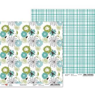 Бумага для скрапбукинга Rosa Talent 30.5*30.5см Flowers time-1 двухсторонняя 180 г/м 481402-1