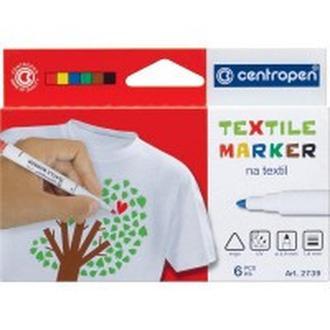 Маркер для ткани Centropen Textile набор 6 цв. 2мм 2739.6
