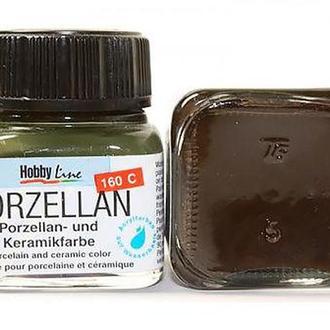 Краска по фарфору и керамике KREUL Hobby Line на водн основе (обжиг 160*) 20мл Коричневая KR-16227
